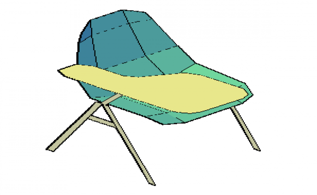 3D drawing of office chair design