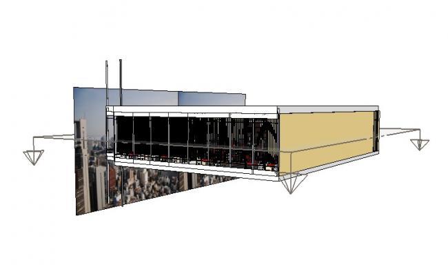 3D drawing of office plan in skp file