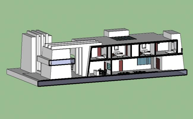3D drawing of residence