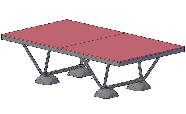 3D drawing of the center table