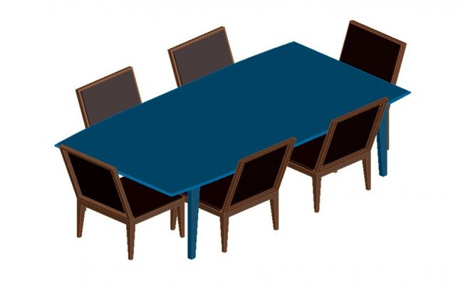 3D drawing of the dinning table in dwg file