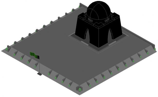 3D drawing of the mosque