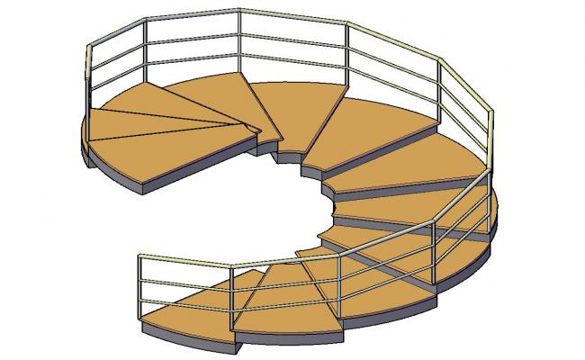 3D drawing of the staircase in dwg file