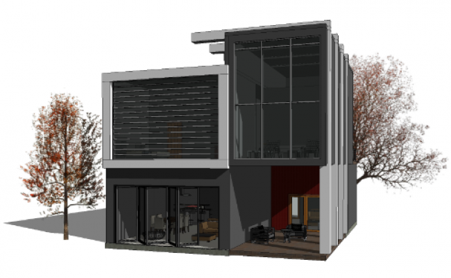 3D elevation design drawing of villa project