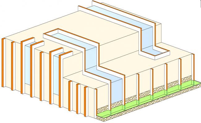 3D elevation detail dwg file