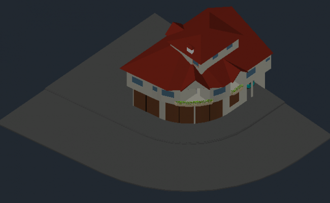 3D family house