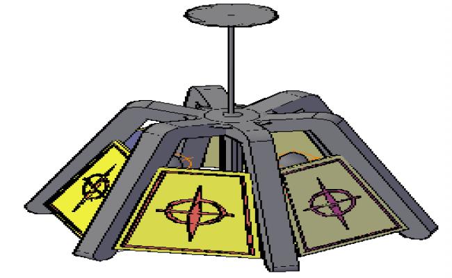 3D furniture Lamp design drawing