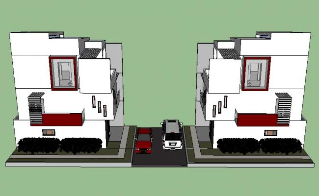 3D house drawing in SketchUp