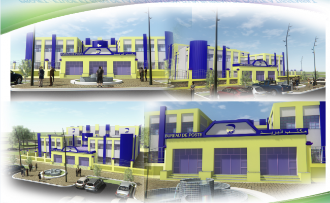3D image view of a international  bank dwg file