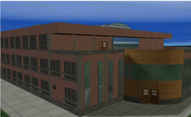 3D image view of a medical university