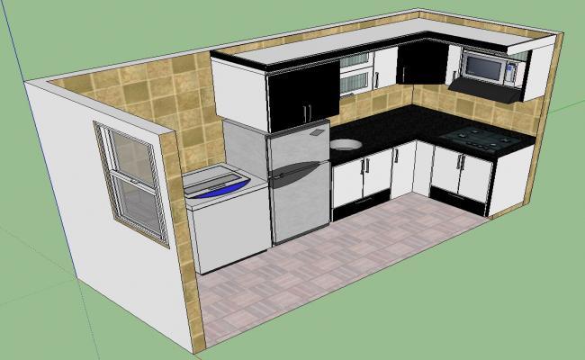 Modular Kitchen Design Sketch-up File
