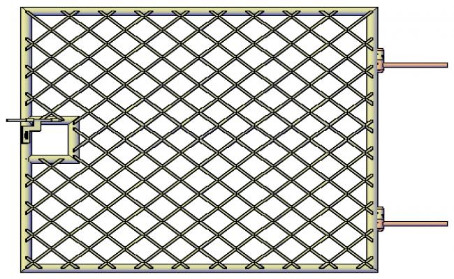 3D metal door Main gate design drawing