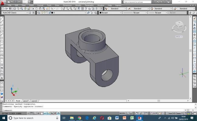 3D model Universal Joint part