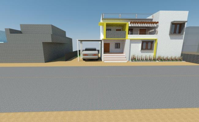 3D model of house plan