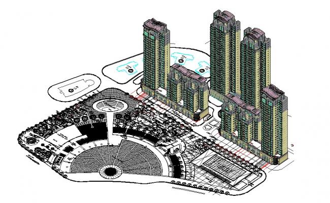 3D residential building plan