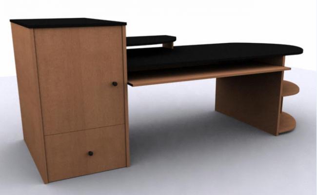 3D table unique design drawing