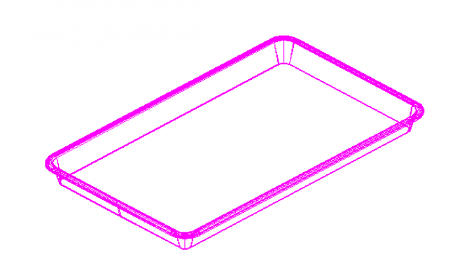 3D Drawing of tray