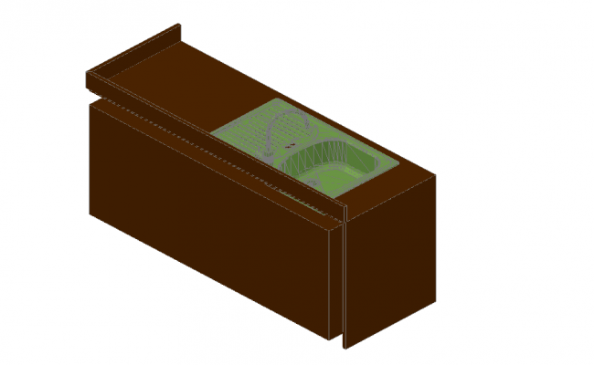 3D view kitchen detail dwg file