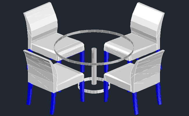 3D view of Dining table set (2)