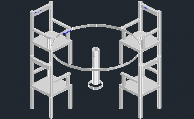 3D view of Dining table set (4)