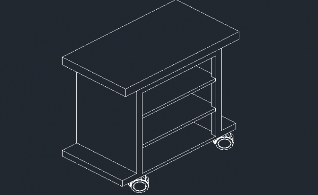 3D view of a TV table