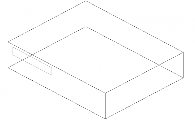 3D view of a box