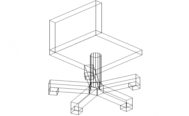 3D view of a chair (5)