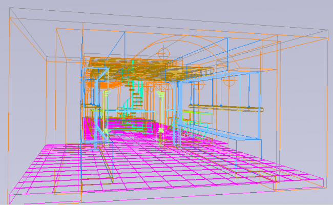 3D view of a living room