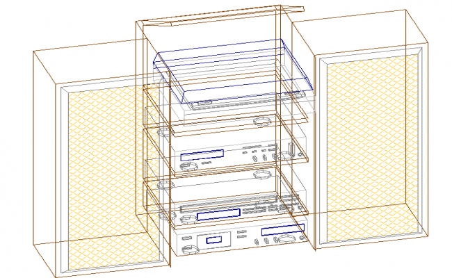3D view of a refrigerator