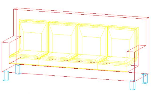 3D view of a sofa-set (2)