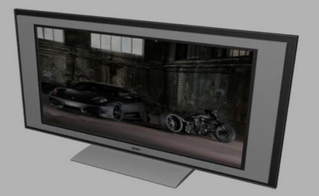 3D view of a sony tv