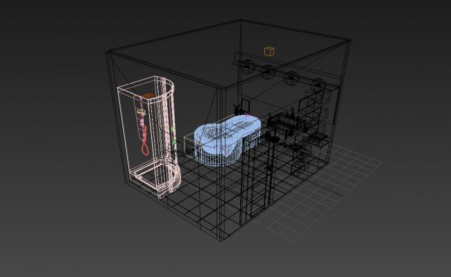 3D view of bathroom In 3D MAX File Free Download