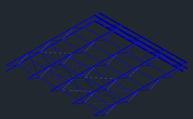 3D Roof Truss Free AutoCAD Drawings