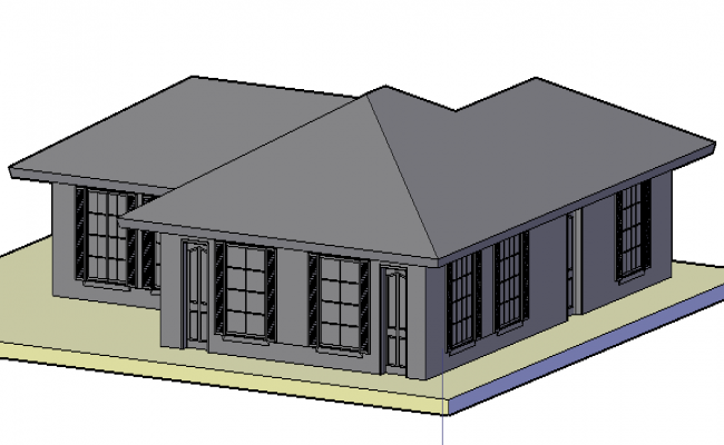3D view of clubhouse