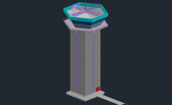 3D view of control tower