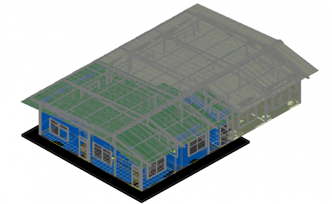 3D view of laboratory dwg file