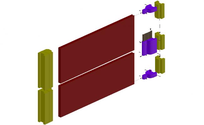 3D view of neoprene door