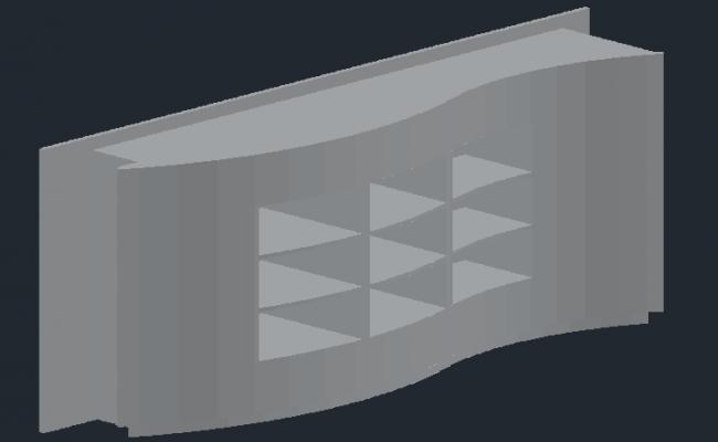 3D view of shelf