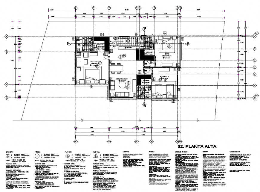 3 BHK house plan autocad file