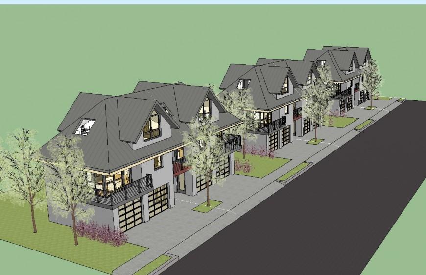 3 d bungalow detail modal detail dwg file