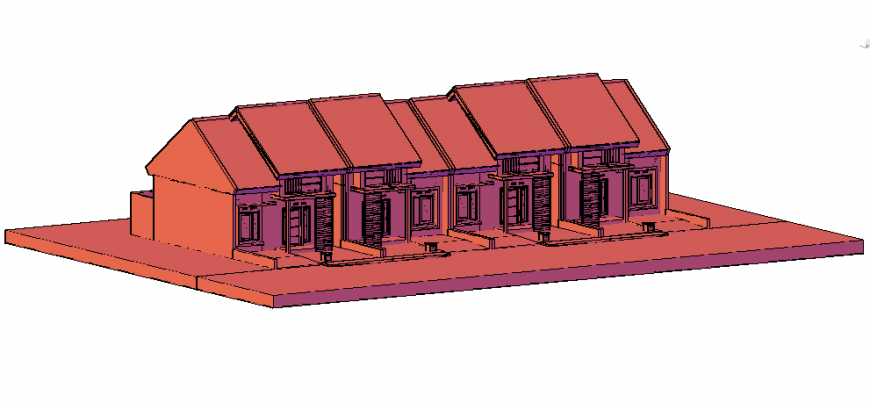 3 d for render house plan layout file