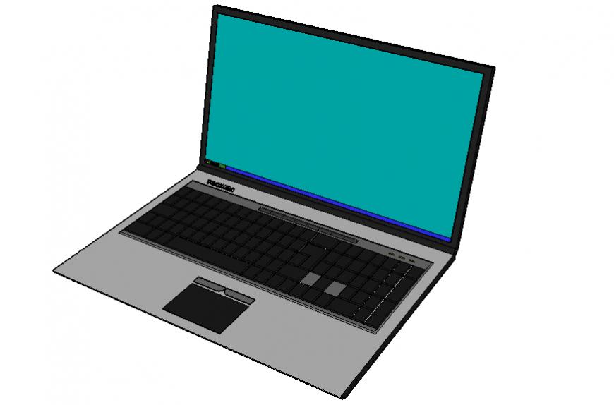 3 d laptop modal autocad file
