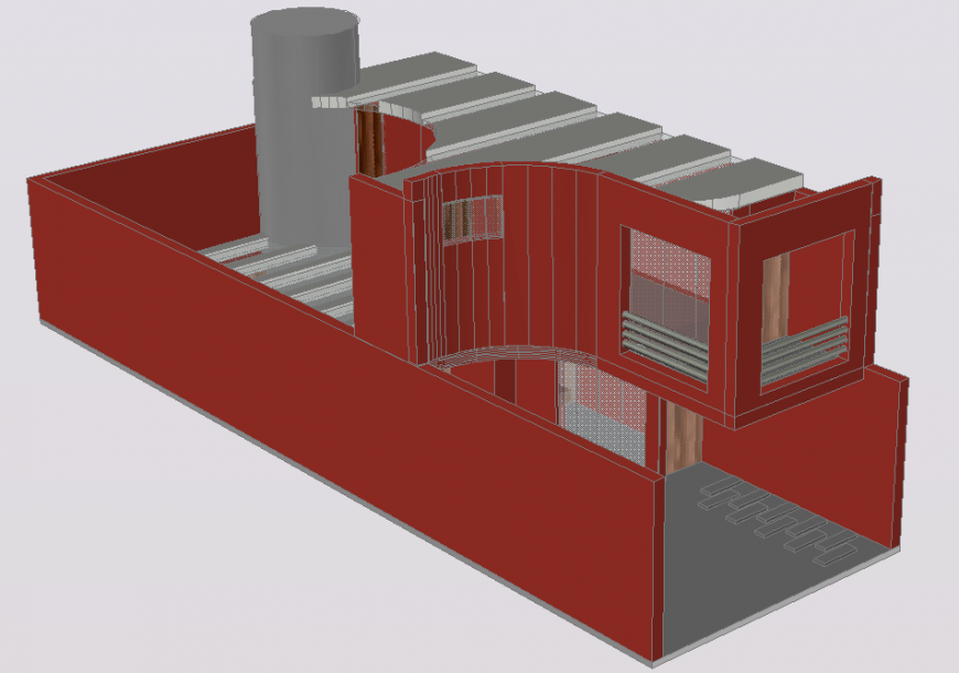 3 d modern house autocad file