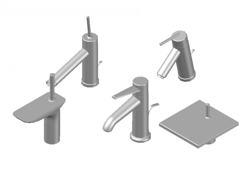 3 D tap different shape autocad file