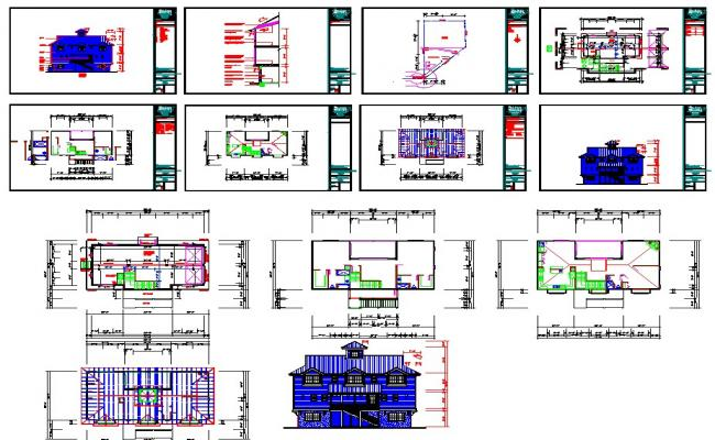 Villas autocad files