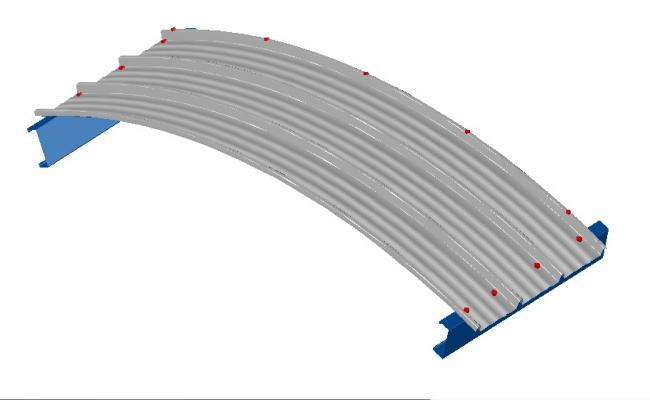 3b metal structure curve 3d drawing details dwg file