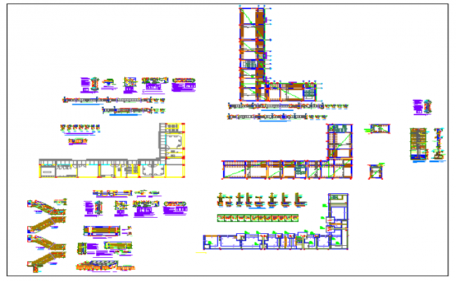 structure plan construction details of office