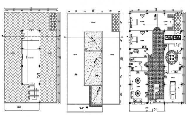 3bhk House Plan Ground Floor