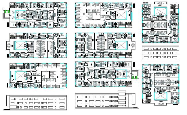 General Hospital Lay-out Plan
