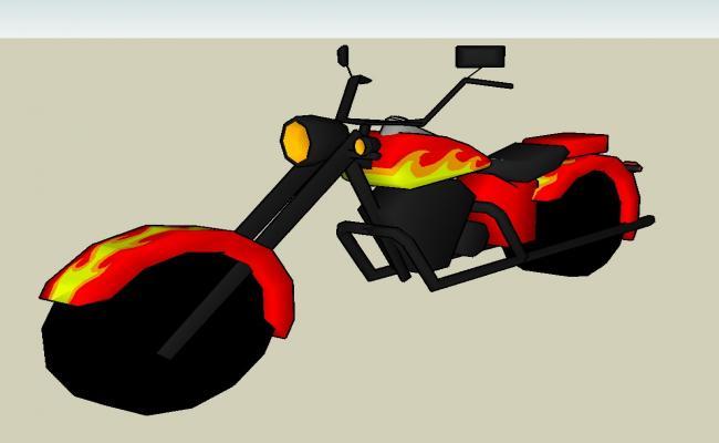 3d  Modern Bike details